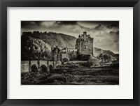 Framed Fairytale Castle Sepia