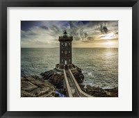 Framed Lighthouse Sunset