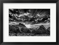 Framed Valley Of Fire 3 Black & White