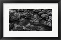 Framed River Rocks 2 Black & White