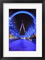 Framed London Eye at Christmas