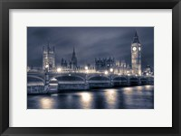 Framed Houses of Parliament at Night