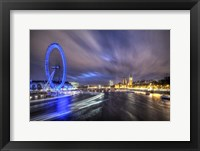 Framed Light Trails Up The Thames