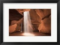 Framed Antelope Canyon Light Beams