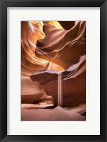 Framed Sand Pours Through Antelope Canyon