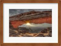 Framed Mesa Arch Sunburst