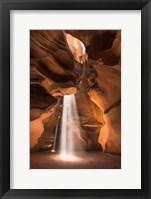 Framed Lighting Up Antelope Canyon