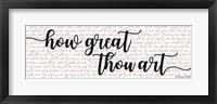 Framed How Great Thou Art