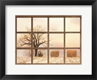 Framed View of Winter Fields