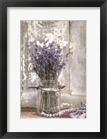 Framed Lavender Bench