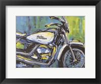 Framed White Harley