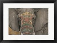 Framed Tattooed Elephant