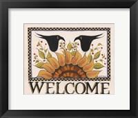 Framed Sunny Welcome