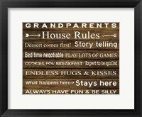 Framed Grandparents House Rules