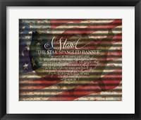 Framed I Stand American Flag on Metal