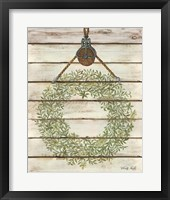 Framed Pully Hanging Wreath