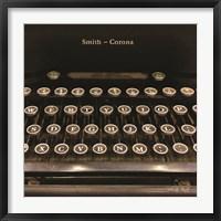 Framed Smith Corona Typewriter
