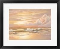Framed Bright Sunset with Dunes