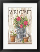 Framed Welcome Spring Flowers