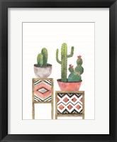 Framed Cactus Tables with Coral