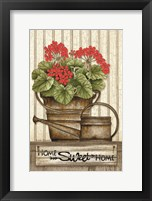 Framed Home Sweet Home Geraniums