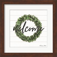 Framed Welcome Wreath