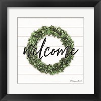 Framed Welcome Wreath