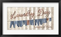 Framed Laundry Day