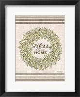 Framed Bless This Home Wreath