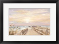 Framed Ponce Inlet Jetty Sunrise