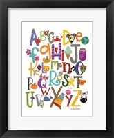 Framed Colorful Alphabet