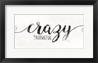 Framed Crazy Thankful