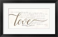 Framed Love Never Fails