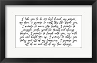 Framed My Vow to You