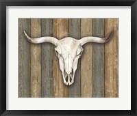 Framed Cow Skull II