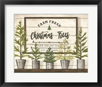 Framed Farm Fresh Christmas Trees