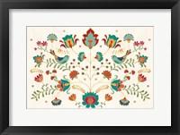 Framed Folk Floral I