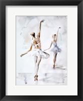 Framed Ballerina In Blue