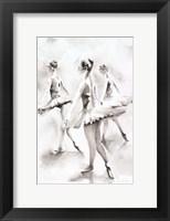 Framed Three Ballerinas