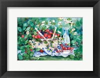 Framed Strawberry Picnic