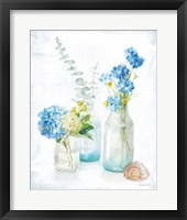 Framed Beach Cottage Florals III