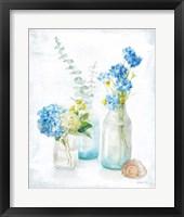 Framed Beach Cottage Florals III