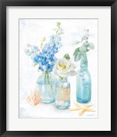 Framed Beach Cottage Florals II