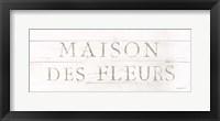 Framed Maison des Fleurs IX