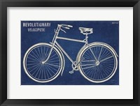 Framed Blueprint Bicycle