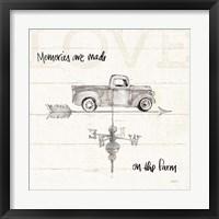 Framed Farm Memories V Truck