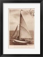 Framed Vintage Sailing II Sepia
