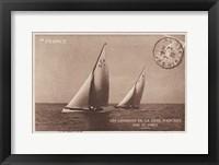 Framed Vintage Sailing I Sepia