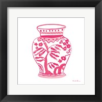 Framed Chinoiserie IV Pink