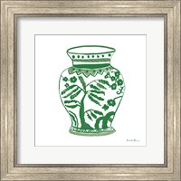 Framed Chinoiserie IV Green